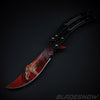 Dragon Fire Video Game IRL Balisong Pocket Knife Sharp