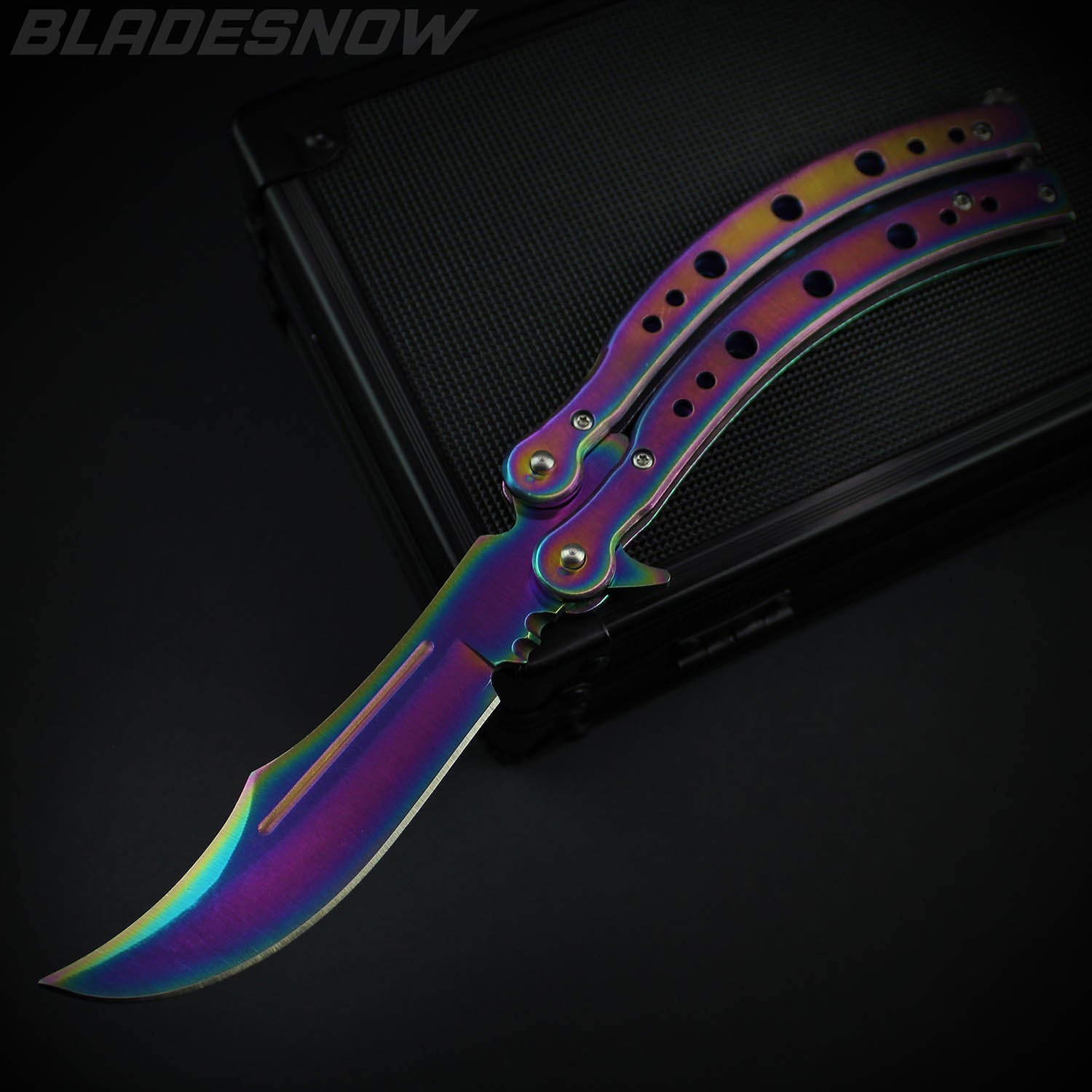 Aura Spectrum Video Game IRL Balisong Knife (Sharp)