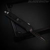 Stealth Mini Dual Action OTF Knife Black