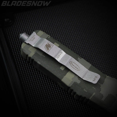 Digital Camo Marines Dual Action OTF Knife