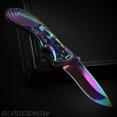 Aura Spring Assisted Knife - bladesnow