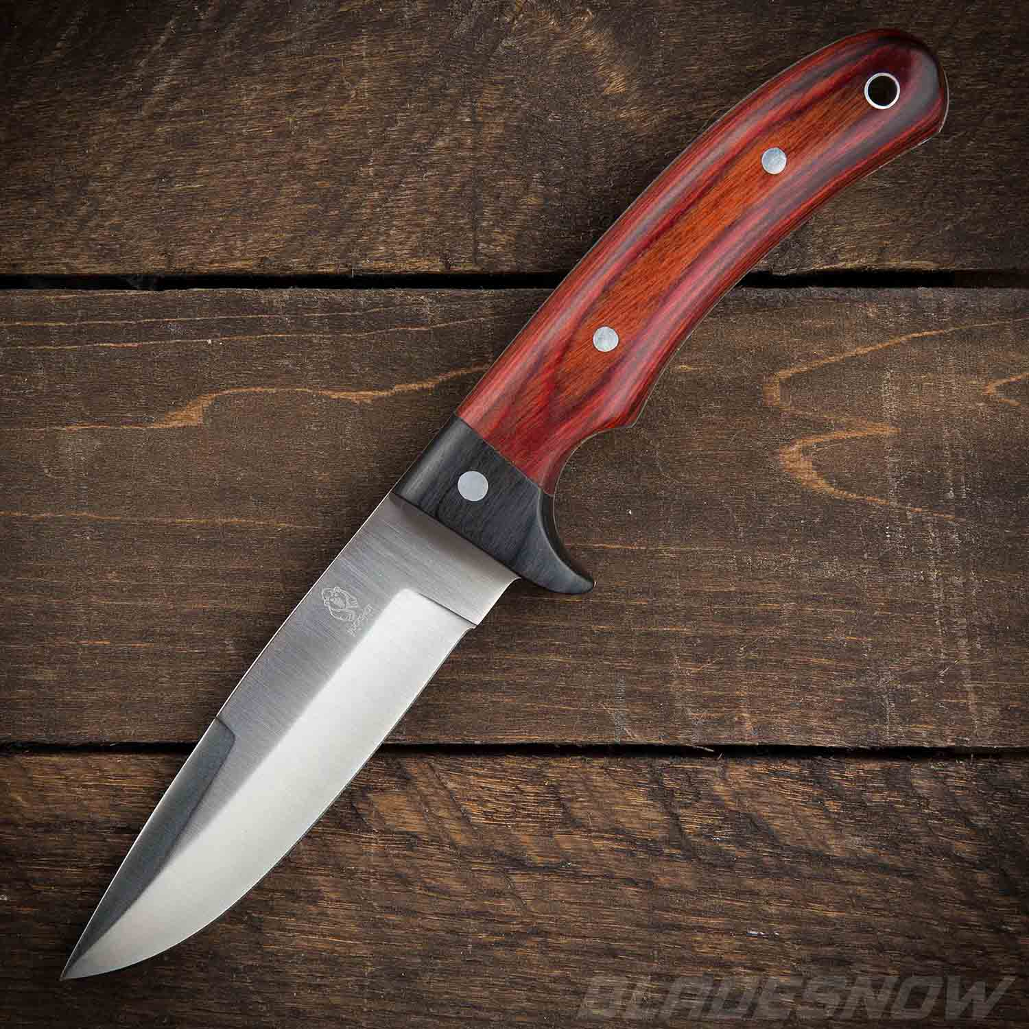 Survival Bushcraft Redwood Handle | Fixed Blade Knife