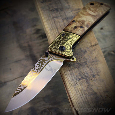 sharp blade Cowboy Spring Assisted Folding Knife