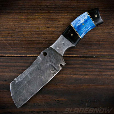 Fixed Blade Knife Blue Handle