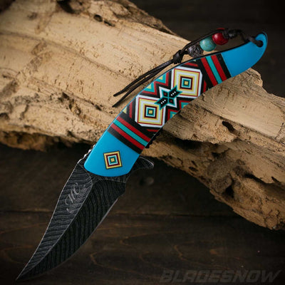 Native American spring assisted Knife
