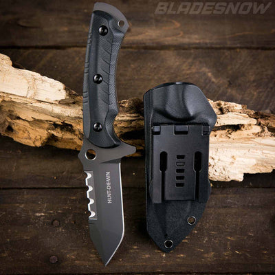 Combat Tactical black knife Tanto G10