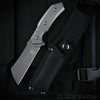 Combat Cleaver Fixed Blade Knife Aircraft Gray