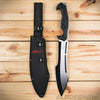 Fixed blade bowie knife with nylon sheath
