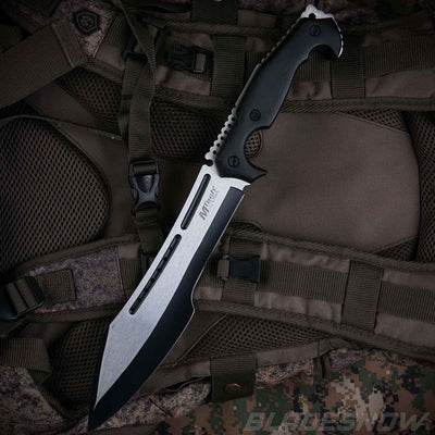 Fixed blade machete stainless steel blade