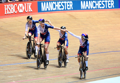 image of track cyclists at The HSBC UK National Cycling Centre