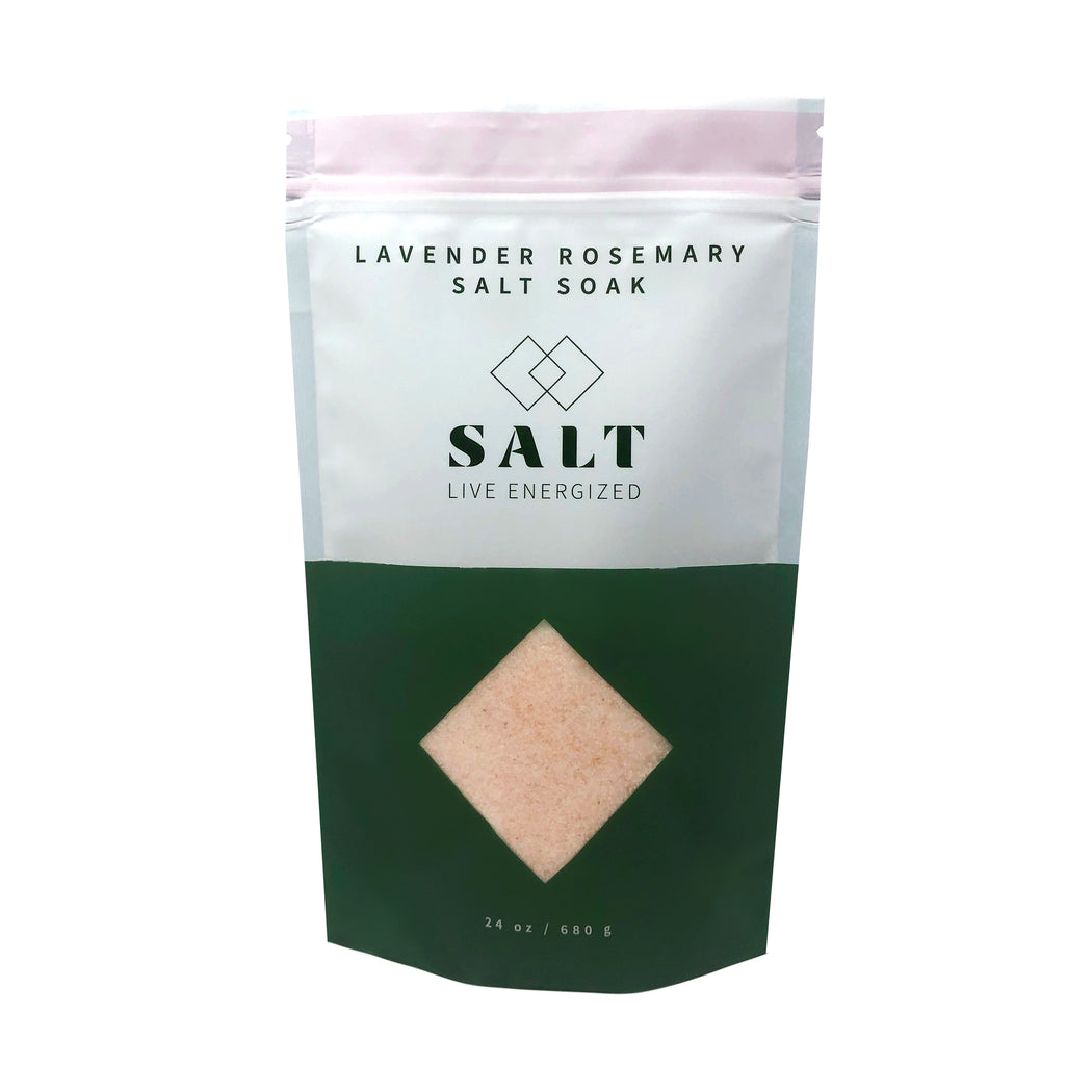 Lavender Rosemary Salt Soak