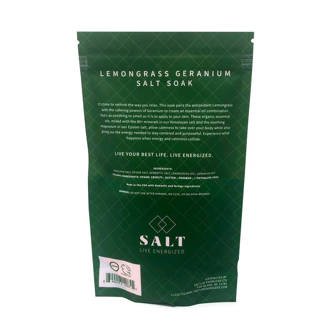 Lemongrass Geranium Salt Soak