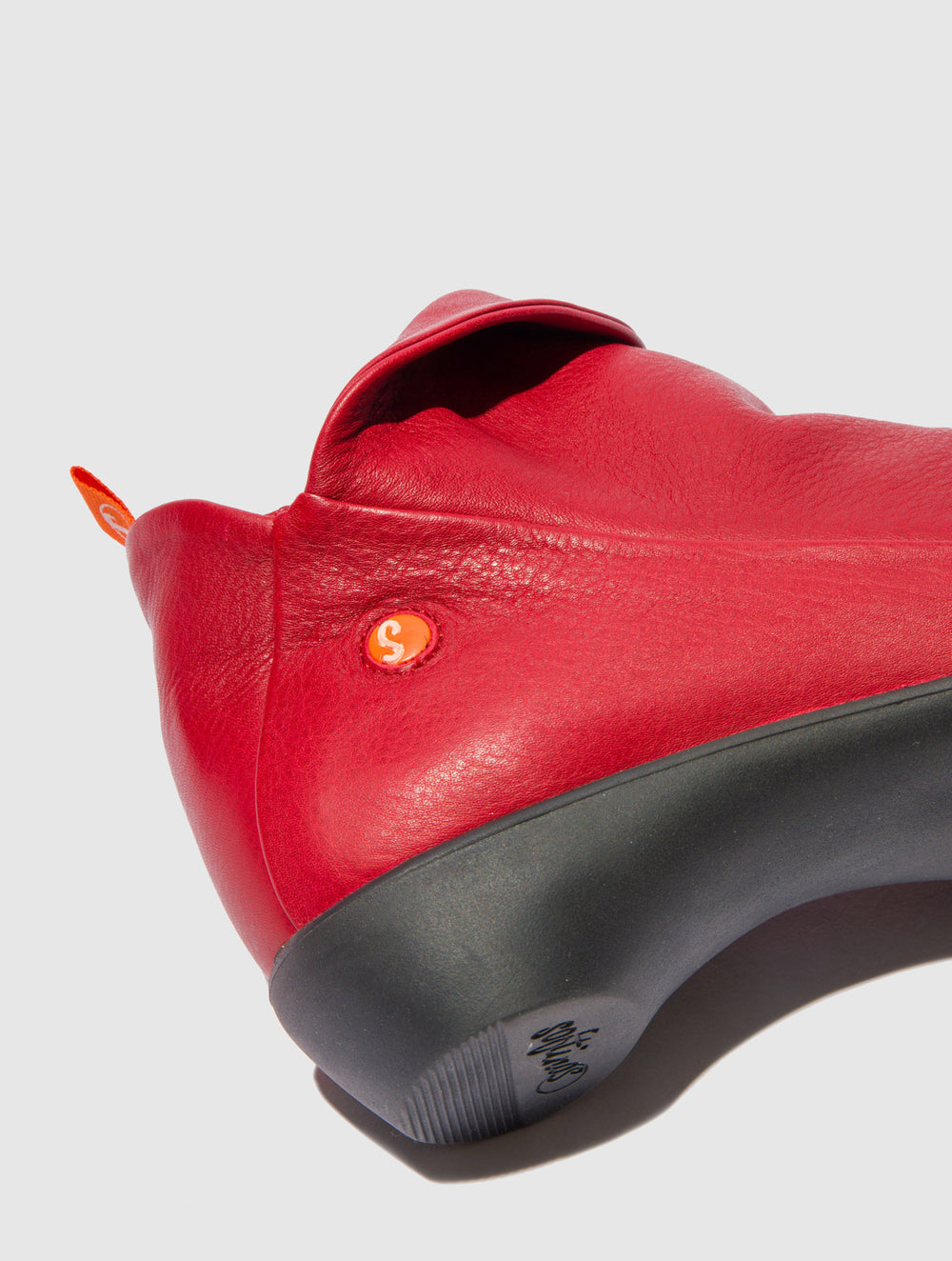 Zip Up Ankle Boots FARAH RED