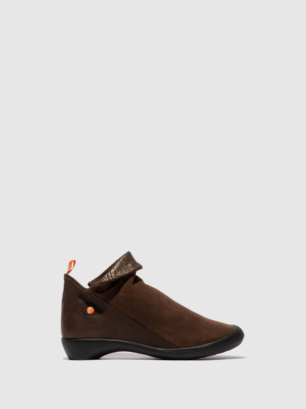 Zip Up Ankle Boots FARAH BROWN/BROWN/BROWN