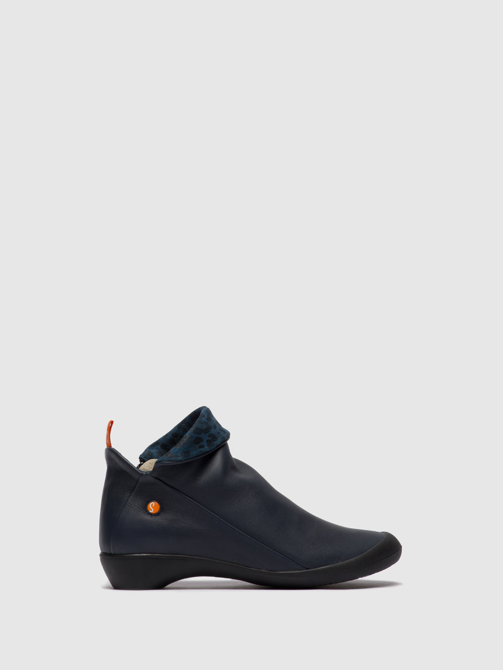 Zip Up Ankle Boots FARAH NAVY/BLUE