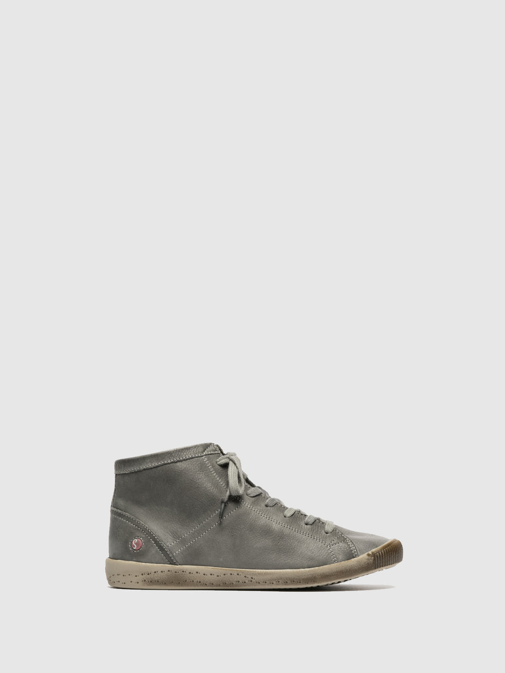 Hi-Top Trainers ISLEEN MILITAR GREEN (LIGHT GREY SOLE)