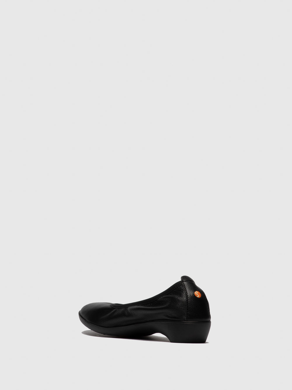 Round Toe Ballerinas GLOR566SOF Black Leather