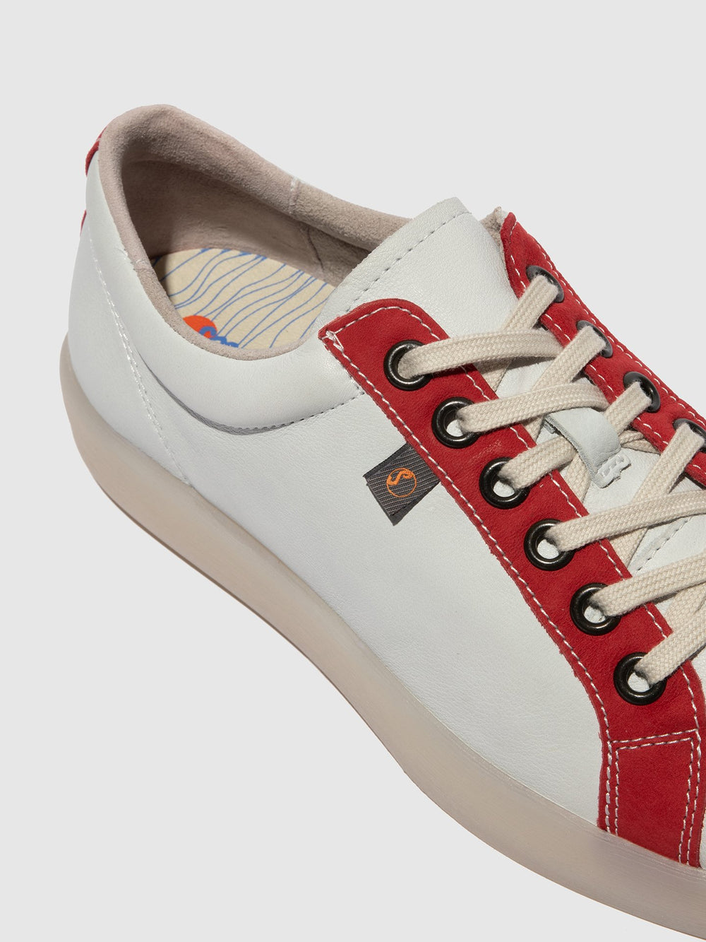 Lace-up Trainers REED595SOF White/LipstickRed