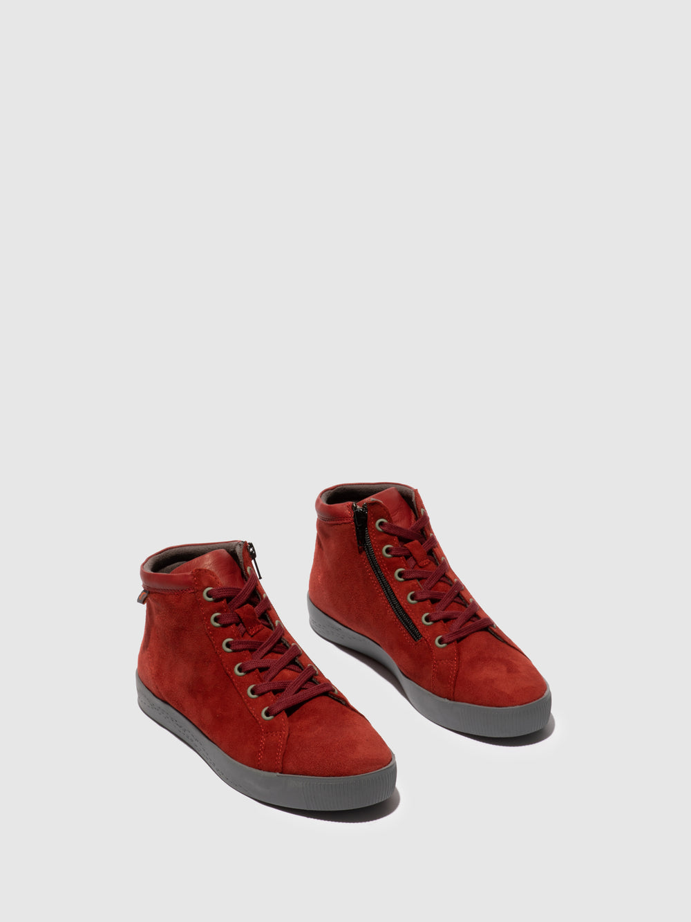 Zip Up Ankle Boots SAGE602SOF RED
