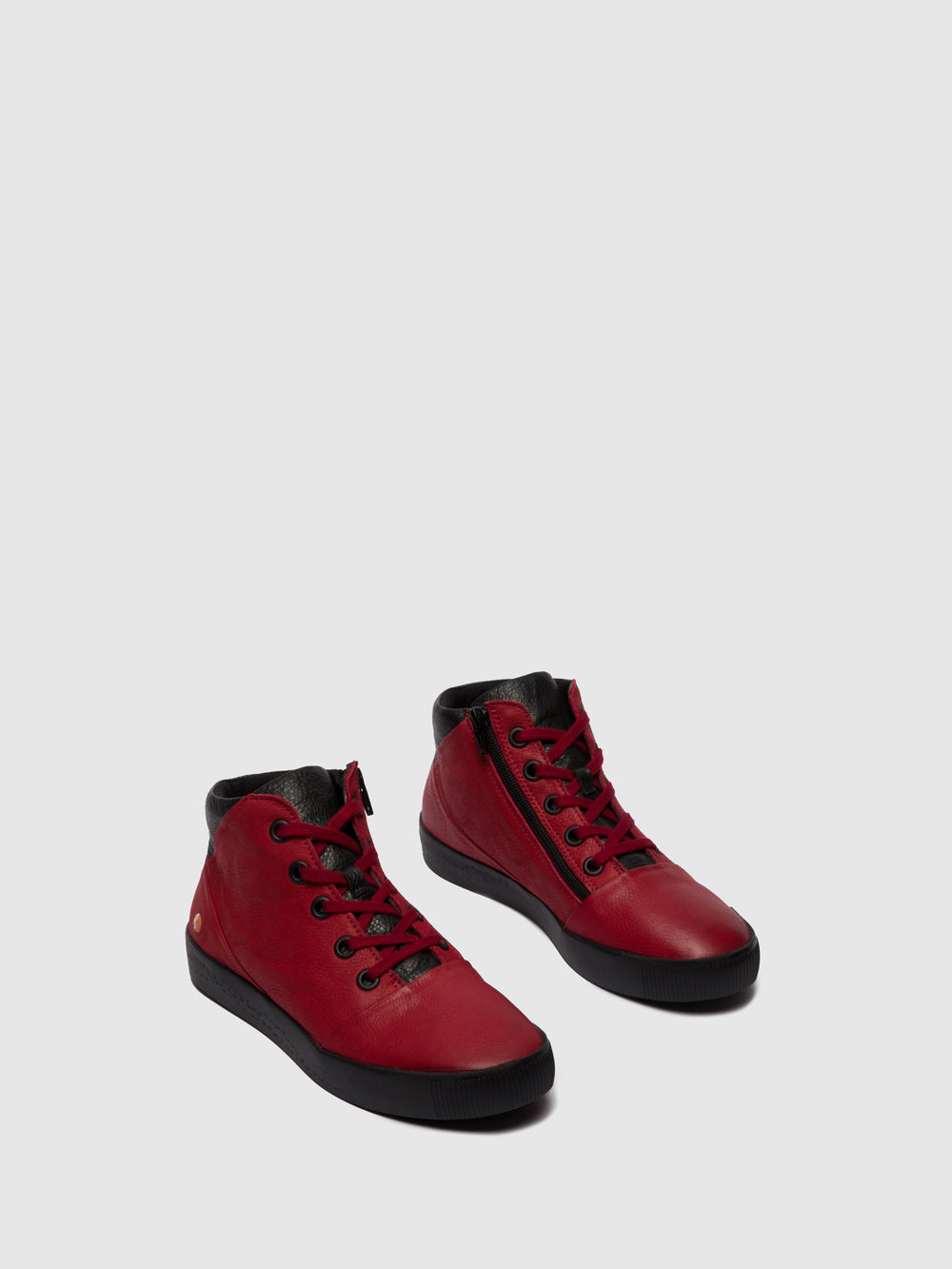 Zip Up Ankle Boots SHAY604SOF RED