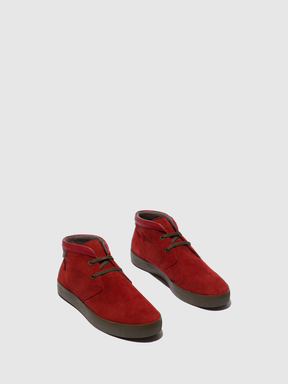 Lace-up Ankle Boots SIAL607SOF RED LEATHER