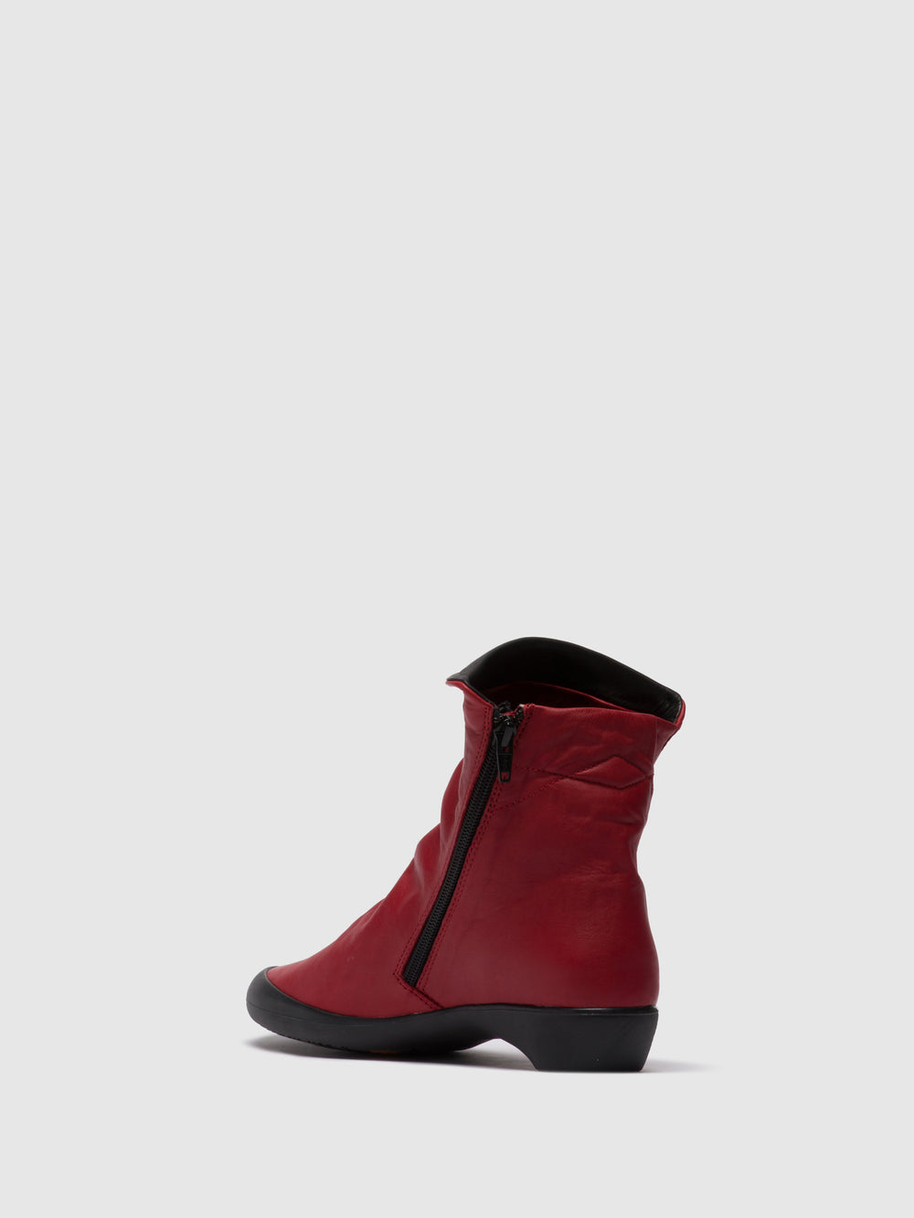 Zip Up Ankle Boots FIEL615SOF RED