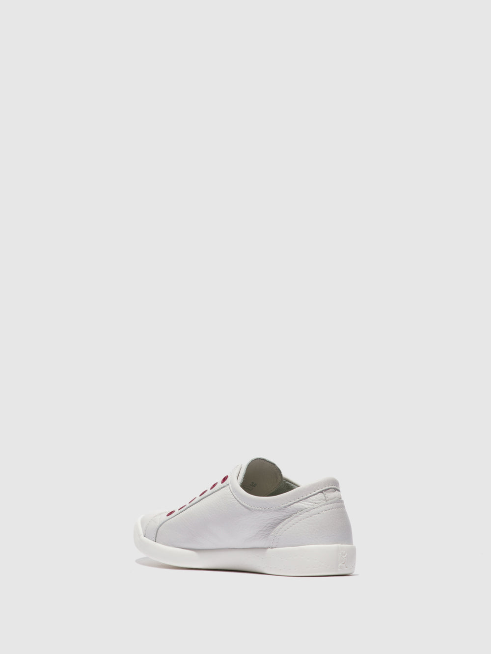 Slip-on Trainers IRIT637SOF SMOOTH WHITE W/ RED ELASTIC