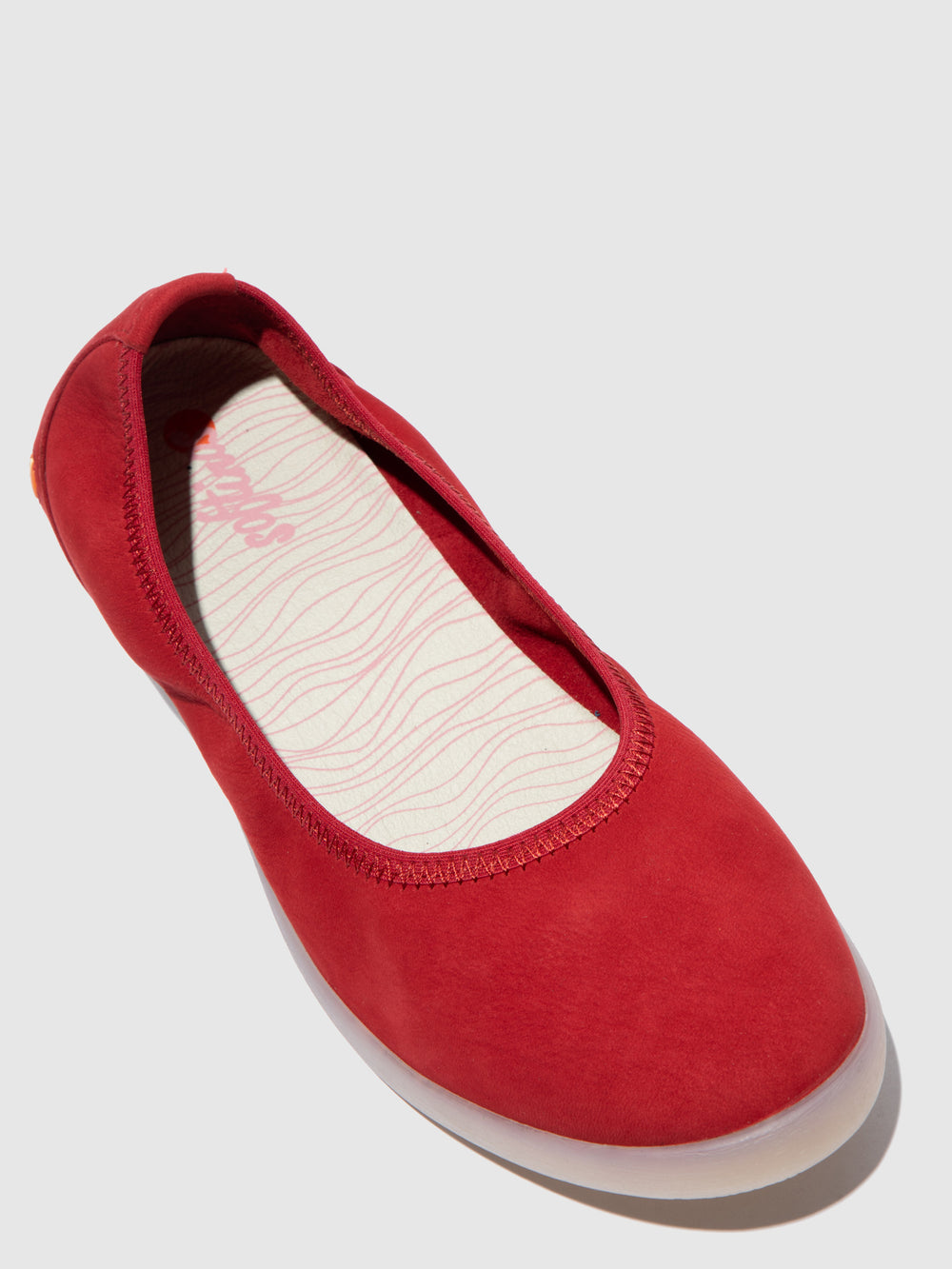 Elasticated Ballerinas LETI646SOF CUPIDO CHERRY RED
