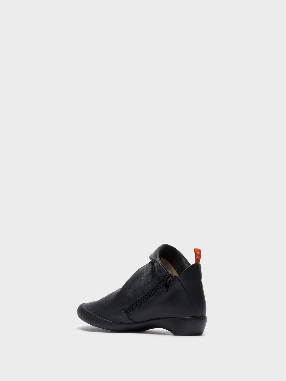 Zip Up Ankle Boots FARAH NAVY