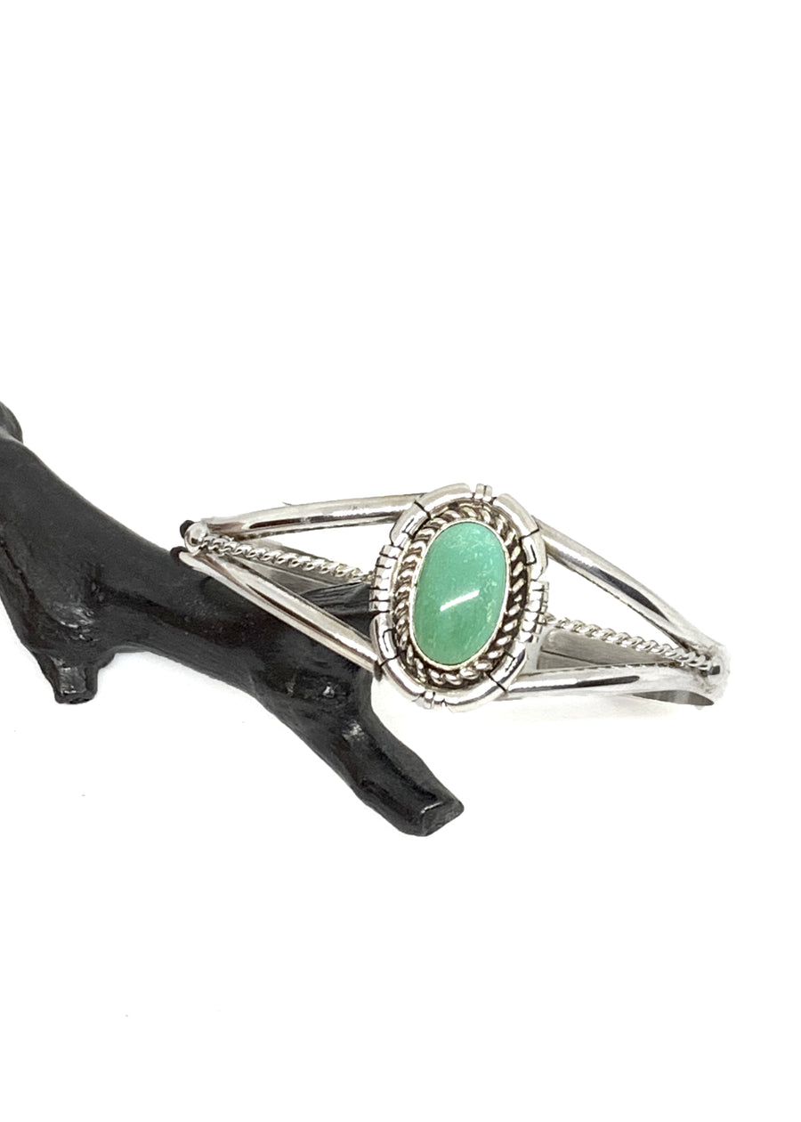 Natural Green Turquoise Cuff