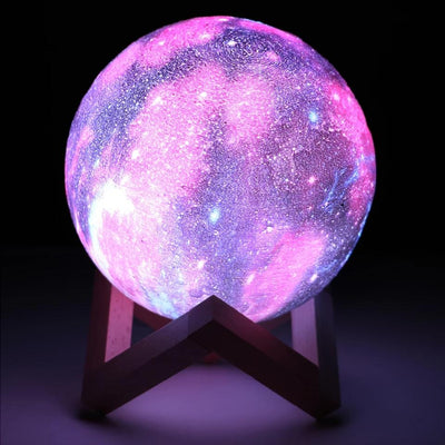 Galaxy Moon Lamp Color Changing