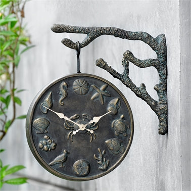 Under the Sea Garden Clock Coastal Decor