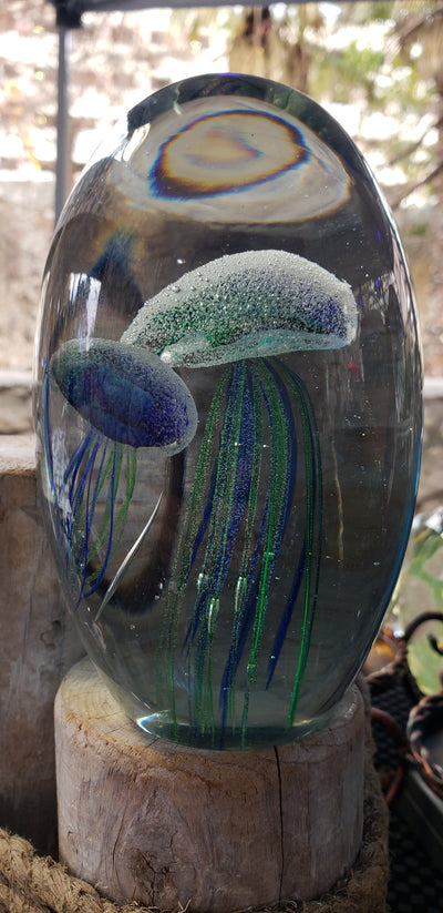 Double Blue Green Jellyfish