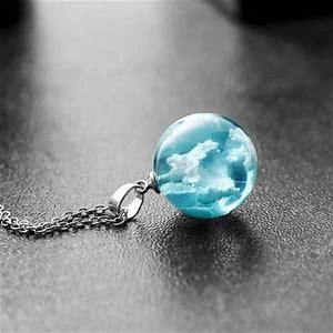 Blue Sky Cloud Necklace