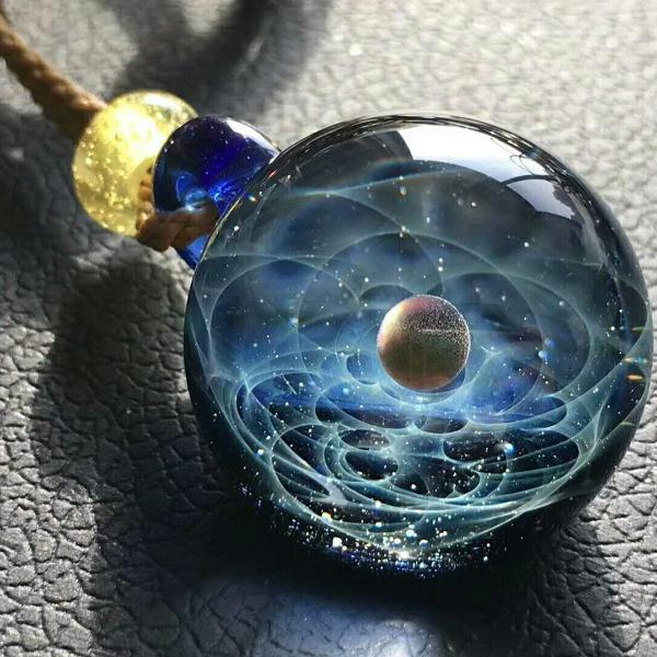 Galaxy Swirl with Real Opal