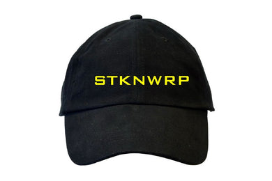 Sticknwrap Dad Hat – Black & Yellow