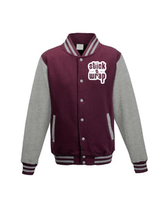 Glow in the Dark : Letterman Jacket (burg / hth gry)