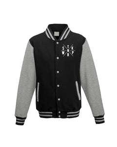 Glow in the Dark : Letterman Jacket (jet blk / hth gry)