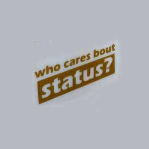 Who Cares About Status Decal
