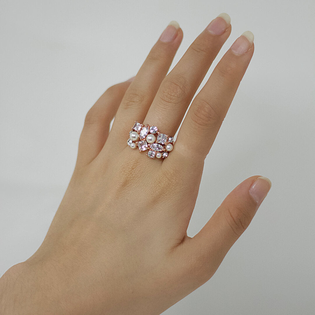 Arabella Rose Gold Cubic Zirconia Ring