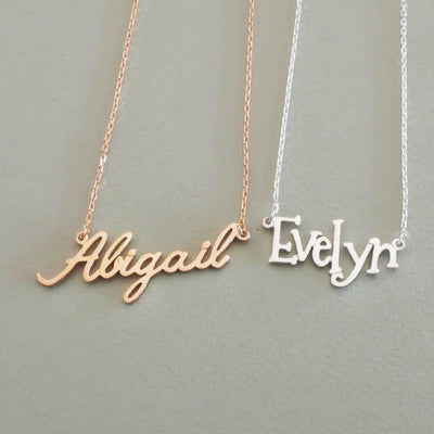 """The Name"" - Personalized Name Necklace- belledesoiree.com"