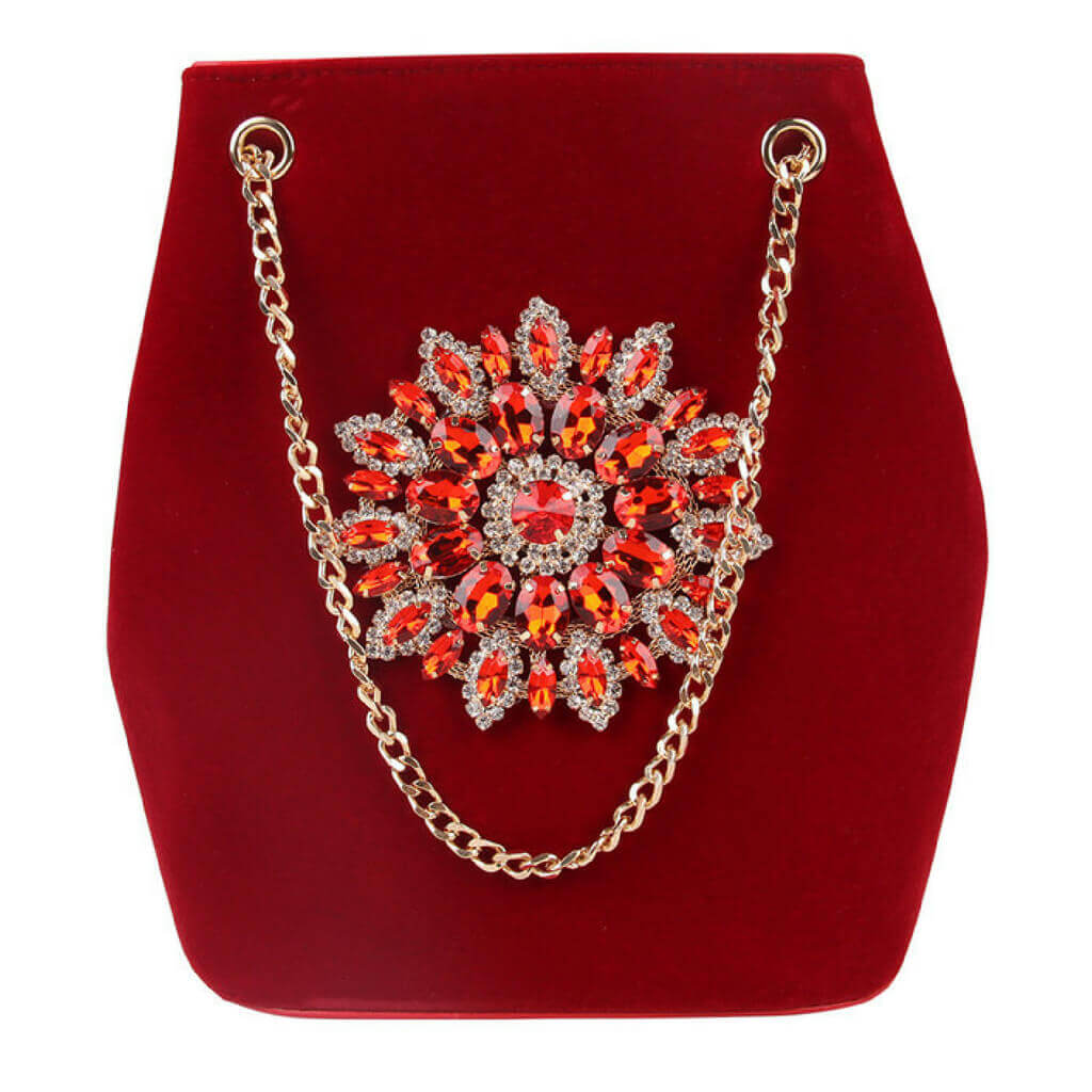 "Diamond  Handbag ""The Curvy"" - belledesoiree.com"