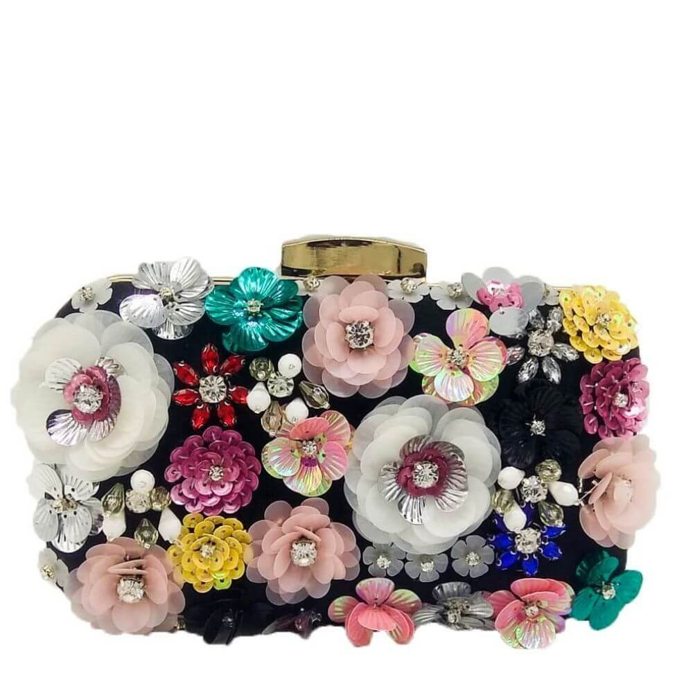 Flower Evening Crystal Clutch Tania