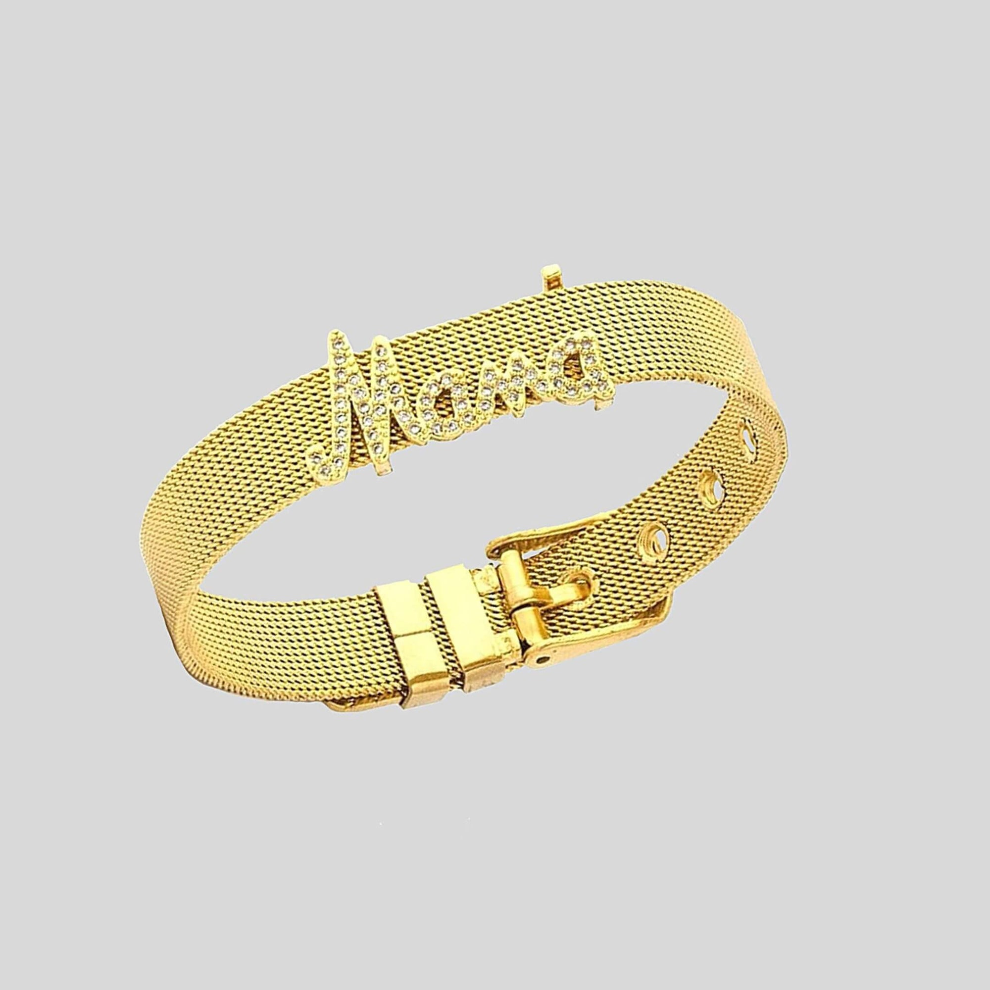 Mothers day Stainless Steel Watch Strap Gold Bangle