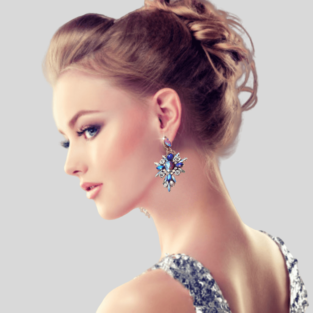 Blue Luxury Pendant Earring