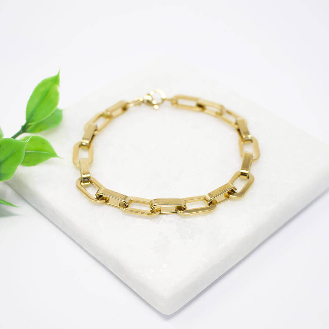 Bright & Bold Gold Filled Unisex Link Bracelet