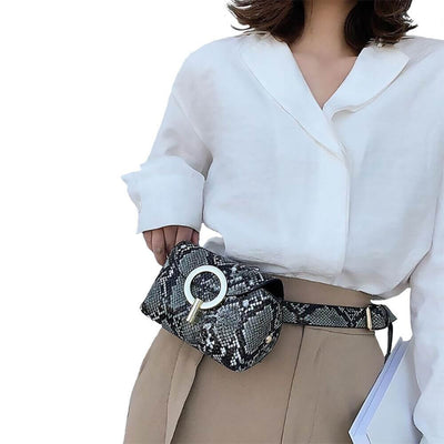 Trendy Snake Belt Bag Charlotte  - belledesoiree.com