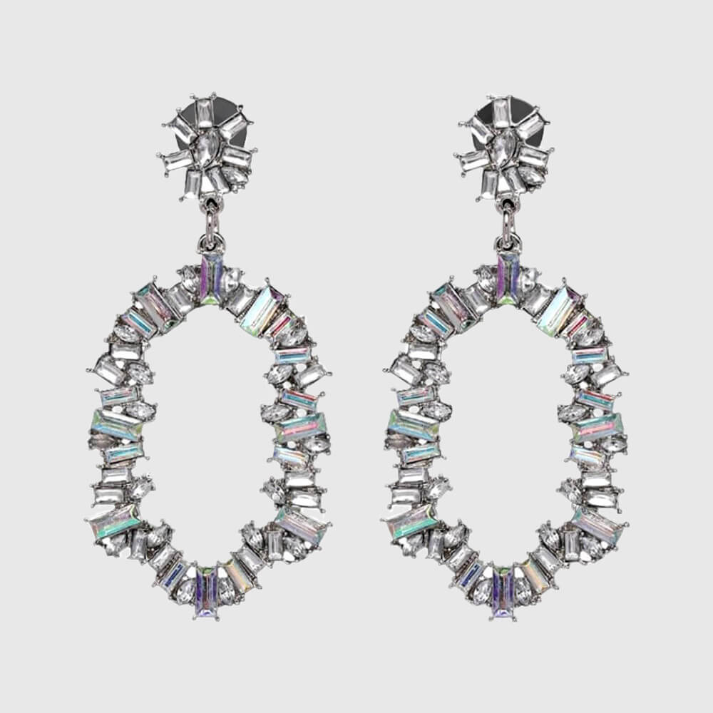 Crystal Drop Earrings London  - belledesoiree.com
