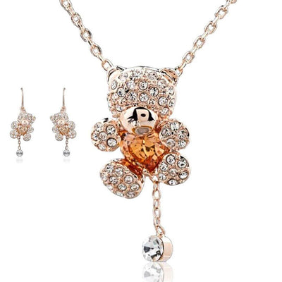 "Zircon Jewellery Set ""The Bears""   belledesoiree.com"
