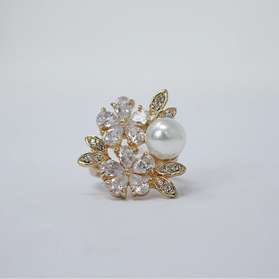 Flower Classic Gold Color Ring